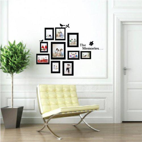 Diy wall decal black photo picture frame wall decor quotes for Diy room decor quotes