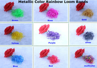 Charm Bracelets Other Unisex Metallic color Refill Rainbow Loom Kit DIY Wrist Bracelet rubber Bands (600bands +24 s-clips) for kids Toy Rainbow Loom bands 500bag lot