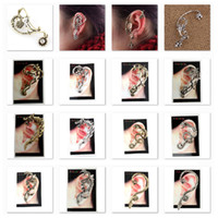 Wholesale Low sales Ear Cuff bird snake Dragon Different Styles Earring Golden amp Silver LKYLEC001