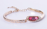 Fashion Glass Rhinestone Women Girls Bangle Bracelet