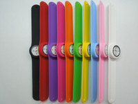 watch slap - New Fashional Slap Snap on PaPa Quartz Unisex Silicone Watch Sports Watches