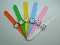 Wholesale Multicolor Slap Snap on PaPa Quartz Unisex Silicone Watch Sports Watches