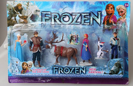Frozen The Snow Queen Anna Elsa Kristoff Hans Olaf in Animated character Dolls children gift 4 set (24 pcs)