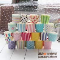 cupcake - 50pcs mixed color polka dot mini paper cake cup cupcake bake cup muffin cases muffin holder cm