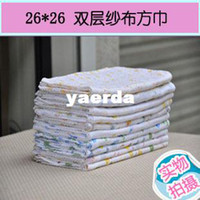 Wholesale cm gauze square spot multicolored cotton double gauze handkerchief face towel bibs