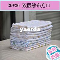 Wholesale cm gauze square spot multicolored cotton double gauze handkerchief face towel bibs