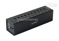 Wholesale ORICO A3H10 Aluminum Super Speed Ports USB3 HUB Splitter with Power Adapter D2258A