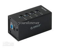 Wholesale ORICO A3H4 Aluminum Super Speed Ports USB3 HUB with Power Adapter D2256A