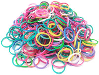 3 & 4 Years Multicolor Plastic Rainbow Loom bands Kit 600 pcs Rubber Band Bracelet Loom with 24S Clips