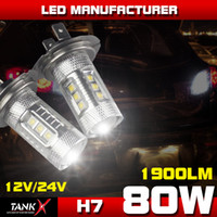 Wholesale W Super Bright Projector Lens Cree LED H7 Car Fog Driving light Daytime Running light DRL Bulbs