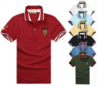 Men Cotton Polo Wholesale-High quality men 's Spring 2014 New Men's Casual Solid color Classic POLO Shirt Large Size M- XXL