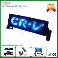 Wholesale New style NEW Product Volot LED Programmable scrolling car sign board Russian and English remote control Pixel x35 Blue