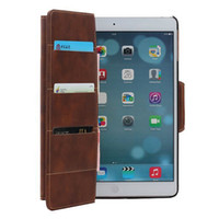 Wholesale Crazy Horse lines Book Stripe Credit Card slot Flip PU Leather skin Cover Case with stand shell For Apple ipad Air ipad inch