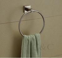 Stainless Steel bathroom towel ring nickel - Brushed Nickel Stainless Steel Bathroom Towel Rings YS