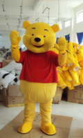 Wholesale Lovely Winnie The Pooh Mascot Costume Adult Size Cartoon Mascot Animal Apparel Factory direct Free EMS