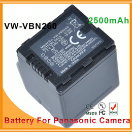 Wholesale Lithium Ion Rechargeable Battery pack for Panasonic VW VBN260 VW VBN260 VW VBN260E VW VBN130 VW VBN390 and Camcorder mAh