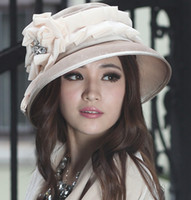 Red velvet flower - Fashion Dress Women Hat Winter Dress Warm Velvet Hat Women Shawl With Flower Organza Trims Big Brim Hat Winter Hat