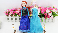 Wholesale Ice and snow Figure Play Set Elsa Anna Classic Toys kid Toys Dolls in box