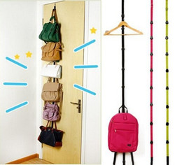 Wholesale New Arrive Over Door Hat Bag Clothes Rack Holder Organizer Adjustable Straps Hanger Hooks