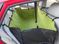 Чехлы для сидений для домашних животных Цены-Pet собаки кошки колыбель водонепроницаемый заднего Back Seat Carrier крышка двойная мат одеяло гамак подушка Protector для домашних собак CW0135