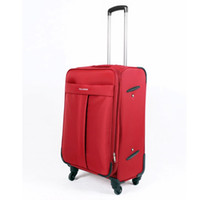 Wholesale 2014 popular style Luggage bags D canvas material red purple black grey
