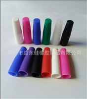 Wholesale Soft Silicone Tubes - Colorful disposable silicone drip tips individually test tips new soft tube ecig disposable silicon tip taster drip tip Wrapped Individually