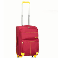 Wholesale 2014 FASHION D canvas luggage bags good quality wheels