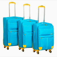 Wholesale 2014 FASHION D canvas luggage bags good quality wheels red black blue and so on