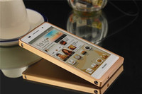 For Chinese Brand Metal Gold Case for Huawei Ascend P6 100%Aluminium Metal Cover Free shipping mobile phone bags & cases Brand New Arrive 2014 accessories
