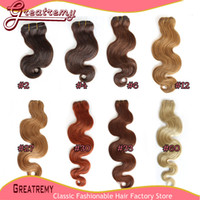Wholesale 3pcs Brazilian Human Hair Weft Weave Body Wave More Colors Hair Extensions