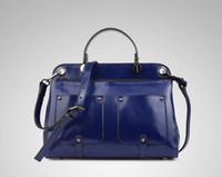 Wholesale 100 genuine leather new women s luxury fashion new oil wax leather shoulder bag Portable diagonal handbags women handbag women bags