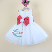 Baby girls Party Dress with bowknot luxury girls evening dre...
