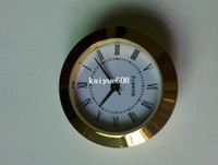 Wholesale whole sale insert clock clock head mm watch movmement plastic gold plated