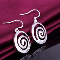 Wholesale E519 New Big promotion sale popular hot sale Earring fashion jewelry silver plated Earring