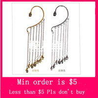 Wholesale Min Order Mix Jewelry order New Fashion Punk Bronze Much Combination Tassel Chain Skull Head Earring Hooking E3018