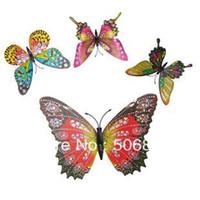 Wholesale 30PCS cm D Artficial Home Party Simulation Butterfly Wedding Decoration Fridge Magnet Refrigerator Magnet Butterfly