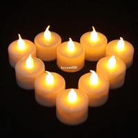 Wholesale 24 Flickering Flicker Flameless LED Tealight Tea Candles Light Battery Operated Wedding Birthday Party Christmas Decoration