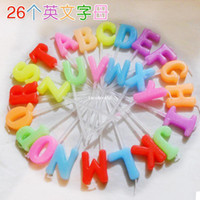 Wholesale hot sell The smokeless candles letters candle Wedding Candle birthday candle