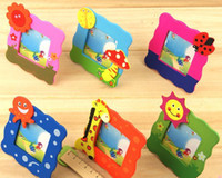 Wholesale Free ship pc Creative Student Prizes special wooden children s gifts new strange small cartoon picture photo frame