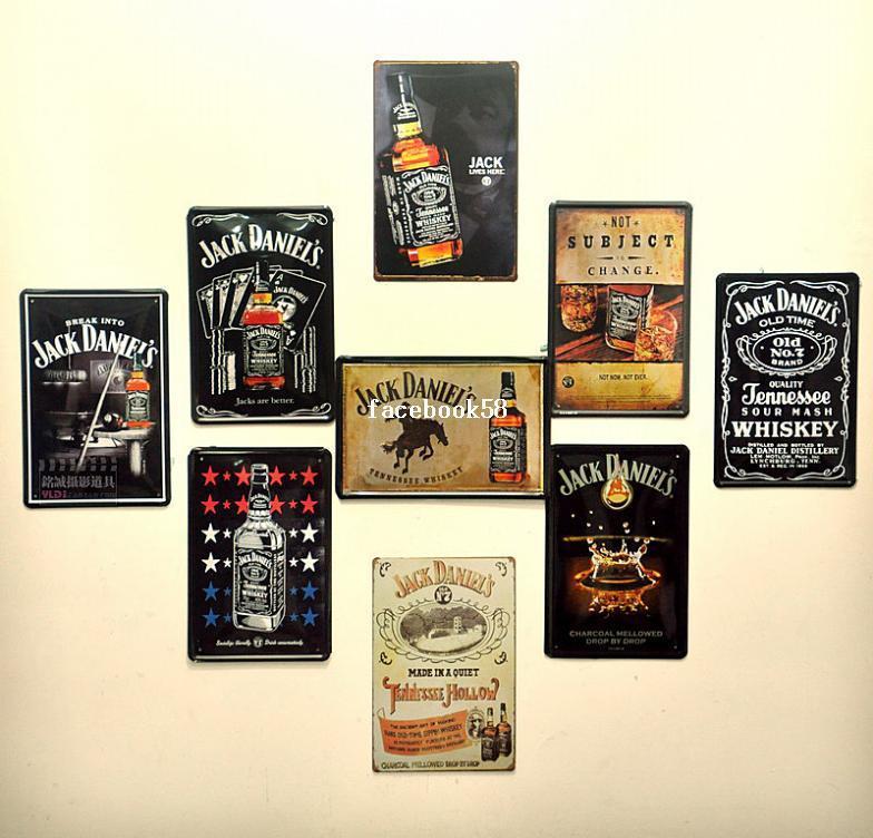 2017 Jack Daniel Bar Dining Room Wall Art Vintage Style