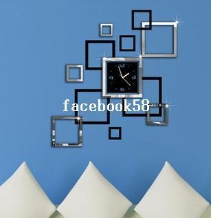 kchen bro wohnzimmer wanduhr wandtattoo haus deko diy design ... - Wohnzimmer Uhren Modern
