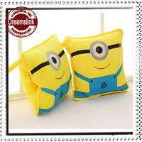 100% Cotton PU Foam Square Car Pillow 100*150cm Minions Pegman 100% Cotton Stuffed Air Conditioning Blanket Quilt Dual Cushion Pillow