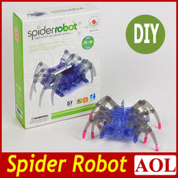 Wholesale Spider robot high teach DIY Smart Spider Electric crawl toy simple science education toy Christmas Birthday Children s gifts