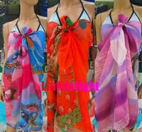 Wholesale Beach cover up Sarongs Chiffon Sexy Wrap Dress Sarong Beach Swimwear Cover Up Sunblock Bikini Scarf