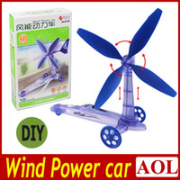 Wholesale Hot sales Green Environmental protection DIY Wind Power Car toy Move Windmill kids toys gifts for Christmas Birthday Children s day