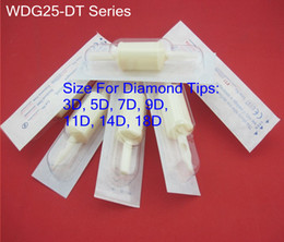 Wholesale 25mm White Disposable Tattoo Tube Grip With Diamond Tips Supply WDG25 DT Series