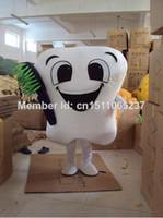 Wholesale Dental care clinic promotion tooth mascot costume party costumes fancy mascot dress amusement park outfit