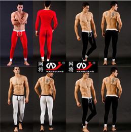 Wholesale new Hot Sale Men s Sexy smooth Thermal Underwear Long John Pants legging Set
