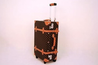 Wholesale Vintage Travel Suitcase Luggage Bag Case Carrier Baggage Trolley Roller pc