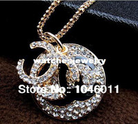 Wholesale Min order is New fashion brand long necklace crystal necklaces amp pendants women jewelry set
